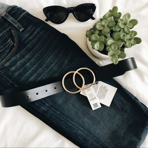 ASOS DESIGN leather double circle waist & hip belt